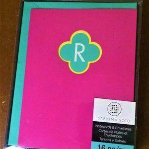 R letter Sabrina Soto Notecards & Envelopes